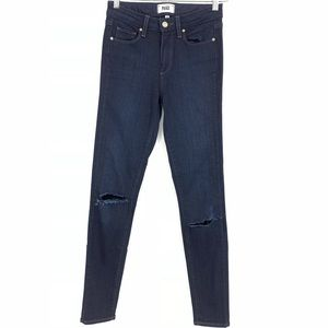 Paige Hoxton Ultra Skinny Dark Wash Denim Jeans